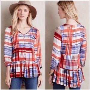 Anthropologie Maeve Lila Tiered Tunic Size XS